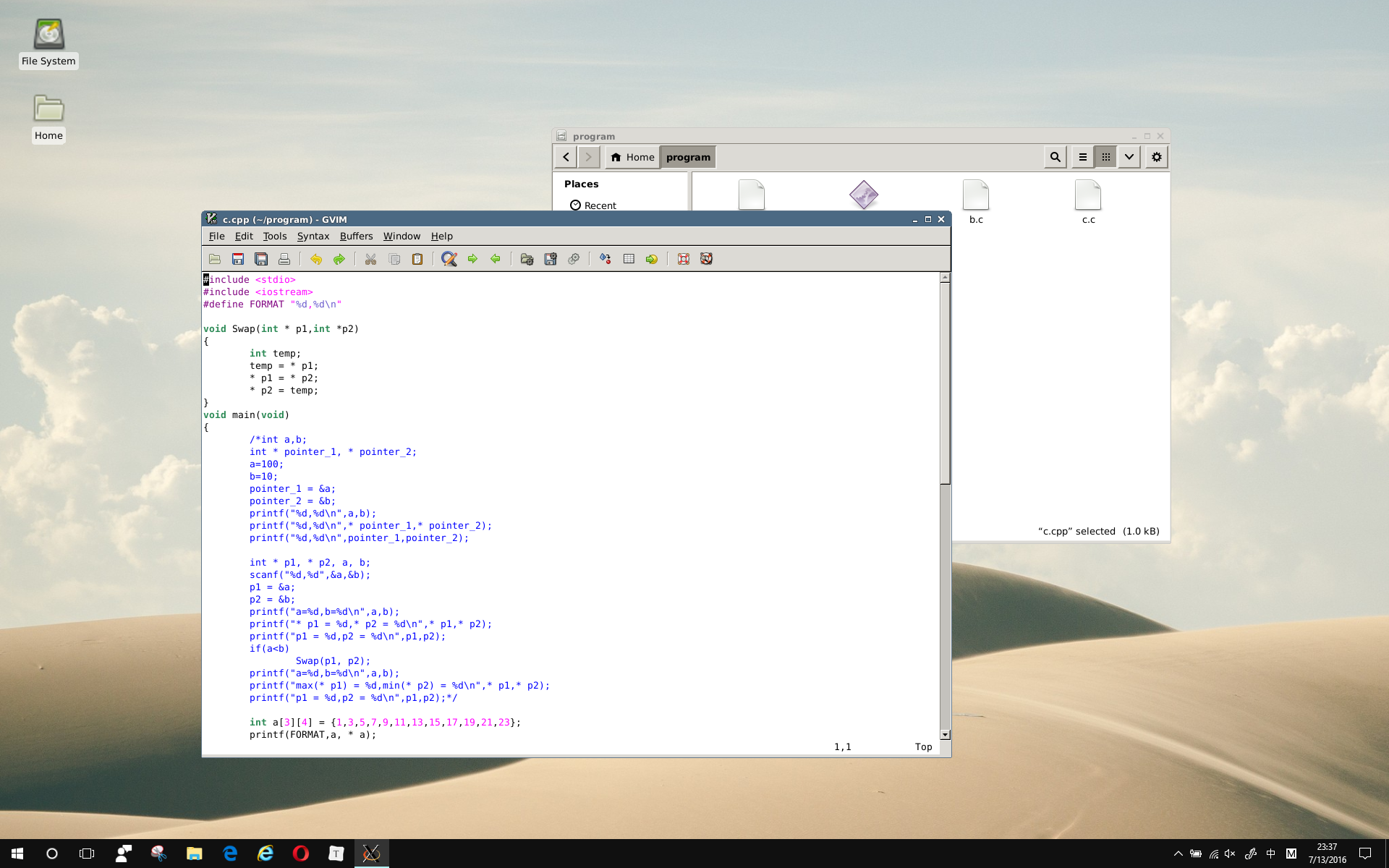 Coding In xface4